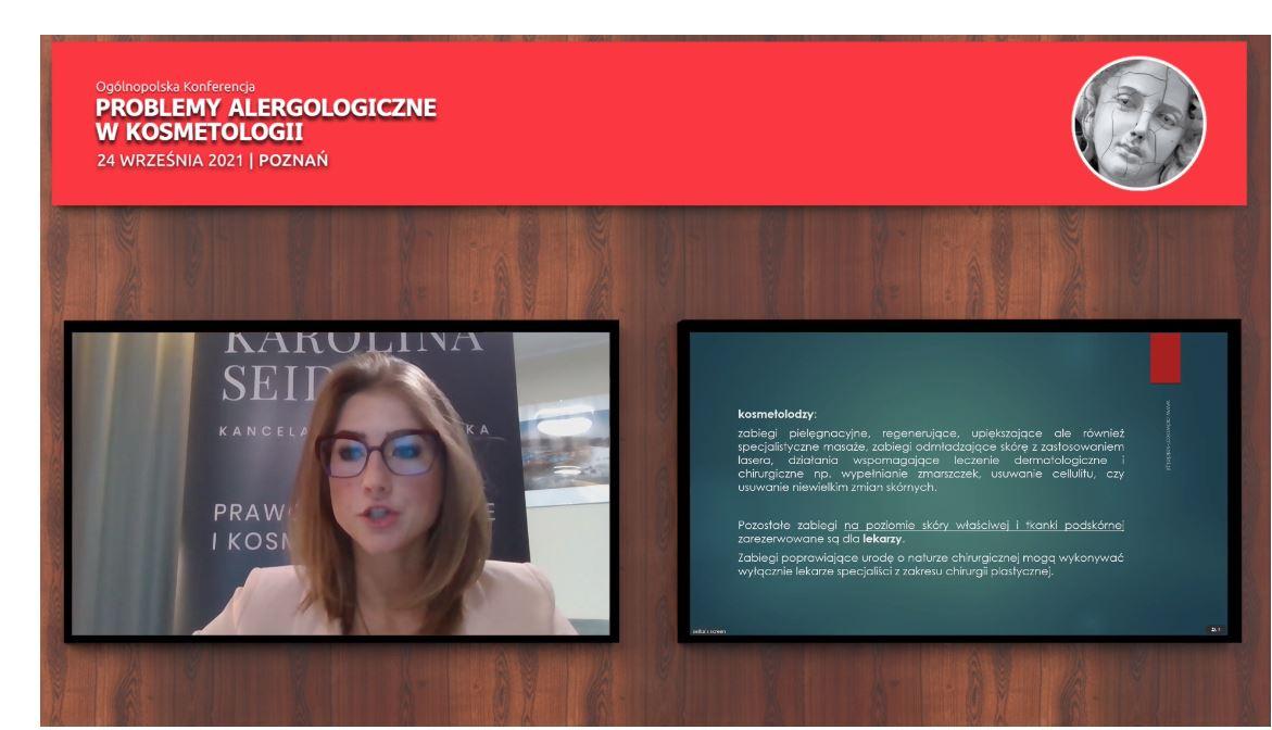 Moja prelekcja na Ogólnopolskiej Konferencji o Problemach Alergologicznych w Kosmetologii – 24.09.2021r.